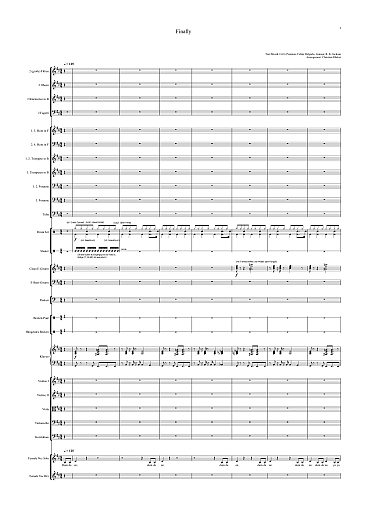 Noten für Orchester - Ce Ce Peniston - Finally - Orchester Partitur - Orchesternoten